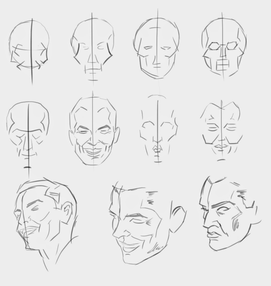 Bad Drawings Loomis Face Structure