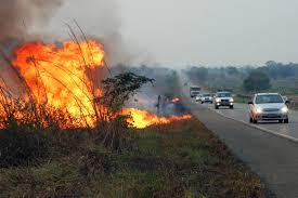 Atenção: queimadas nas estradas podem causar acidentes