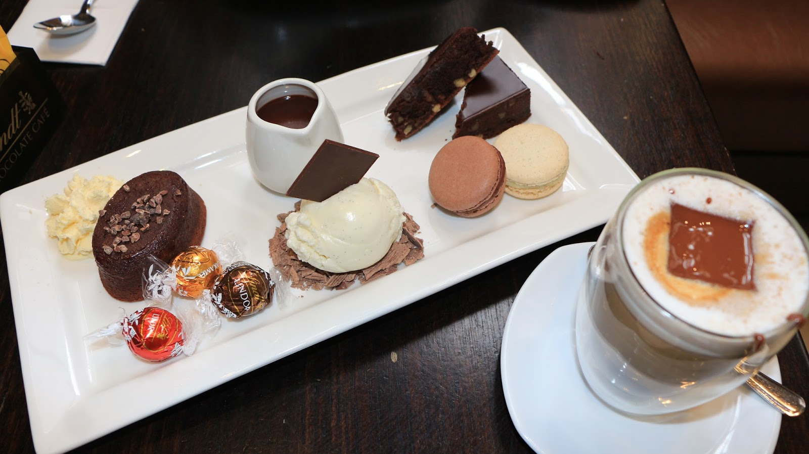 Lindt chocolate platter