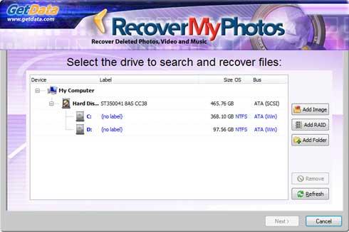 برنامج استعادة الصور المحذوفة للكمبيوتر