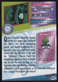 My Little Pony Queen Chrysalis Series 4 Trading Card