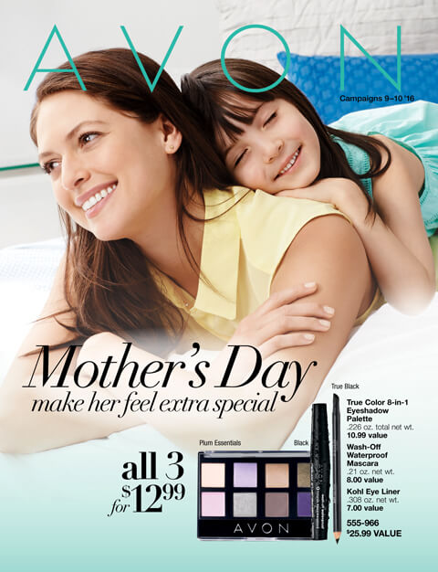 Avon catalog for campaign 9 & 10 Mother's Day make her feel extra special.