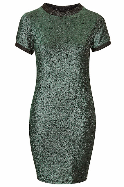 topshop green sparkly dress