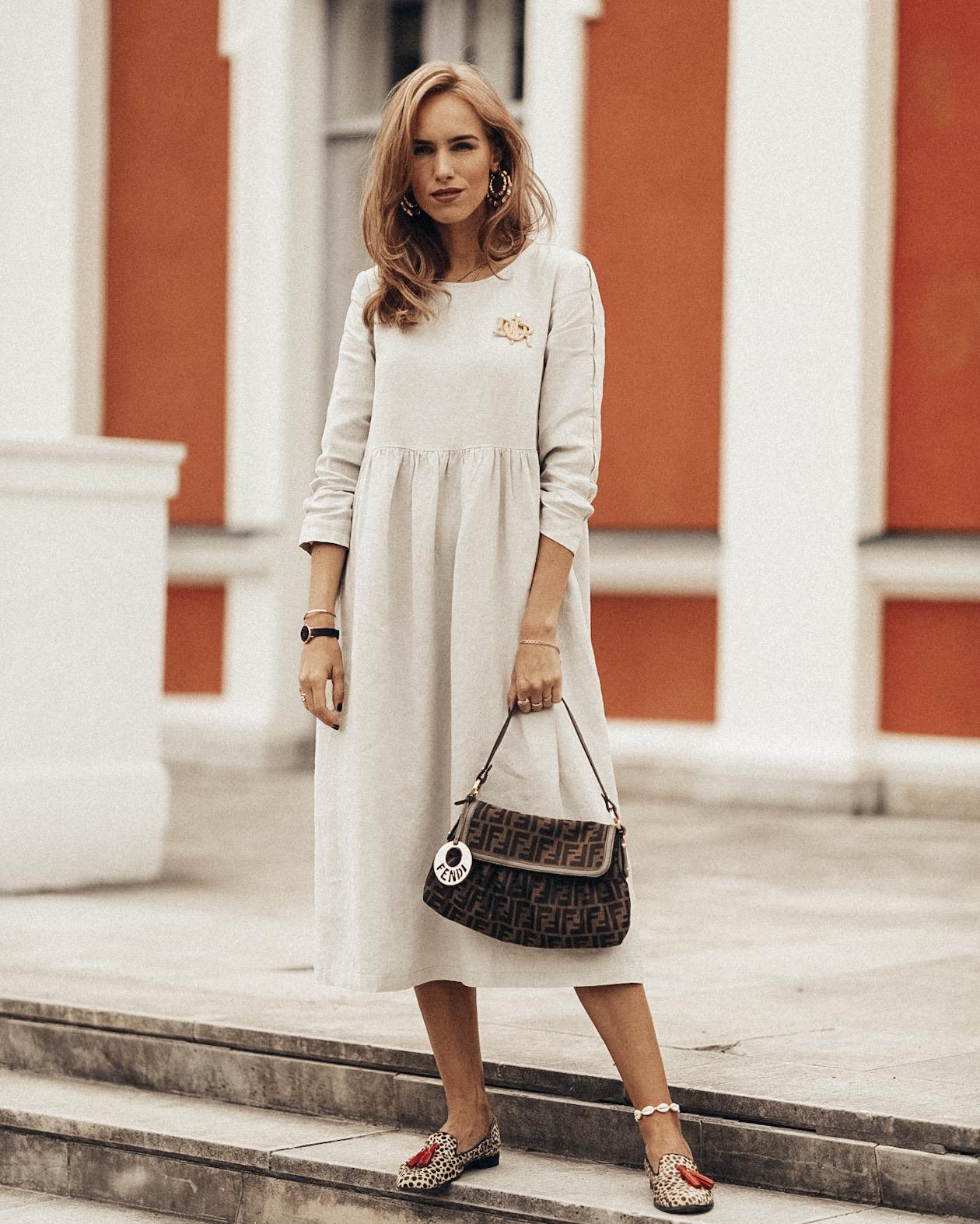summer linen dress outfit
