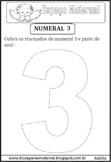Numeral 3 pontilhado