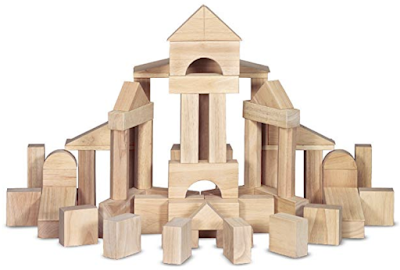 Gift ideas for children ages 3-7: Wooden blocks