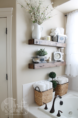 diy farmhouse floating shelves. The best diy farmhouse decor projects for you home! Farmhouse decor and decorating ideas.