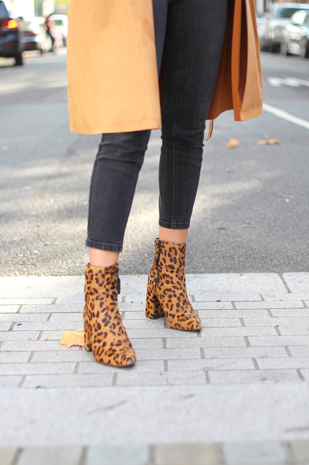topshop leopard print ankle boots autumn style peexo