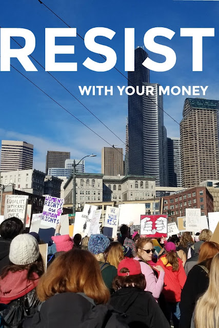 women's march resist with your money