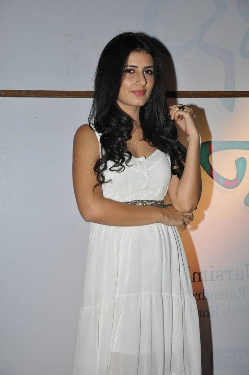 Beautiful Telugu Girl Sana Long Hair White Dress Photos