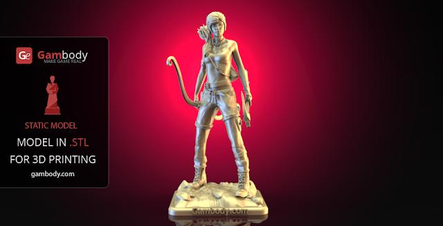 3d print Lara Croft