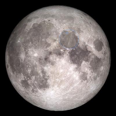 local de pouso da sonda israelense na Lua
