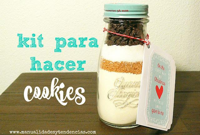 Kit para hacer cookies embotellado hecho a mano