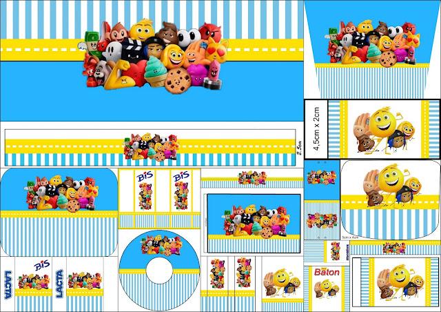 Emoji: Etiquetas para Candy Bar para Imprimir Gratis.
