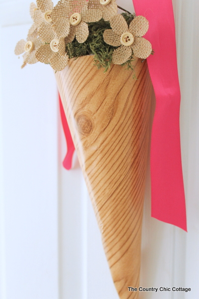 Spring Cone Wreath -- a fun alternative to a wreath for your front door.