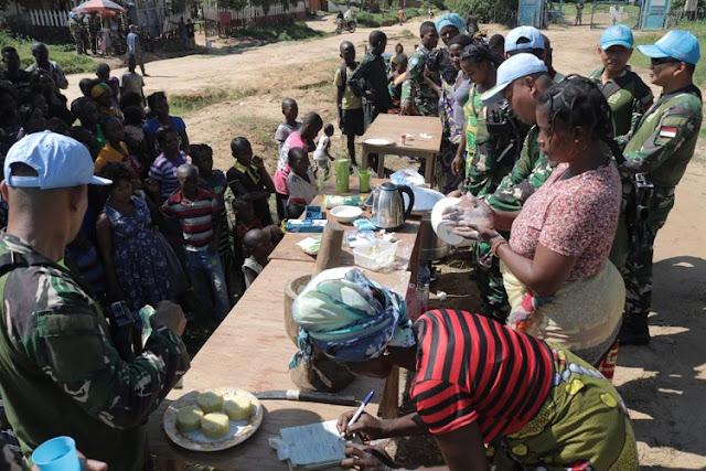 Satgas TNI RDB Gelar Bakti Sosial di Republik Demokratik Kongo