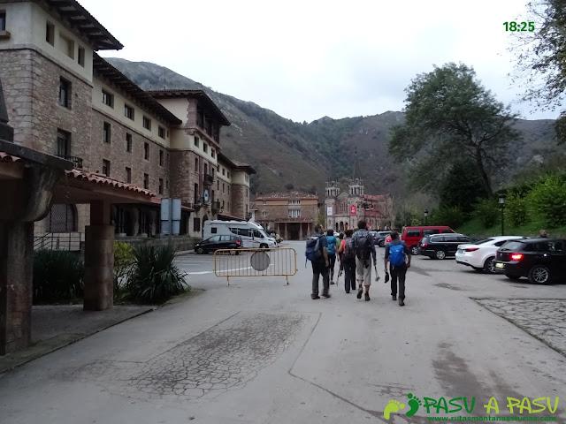 Entrando en Covadonga