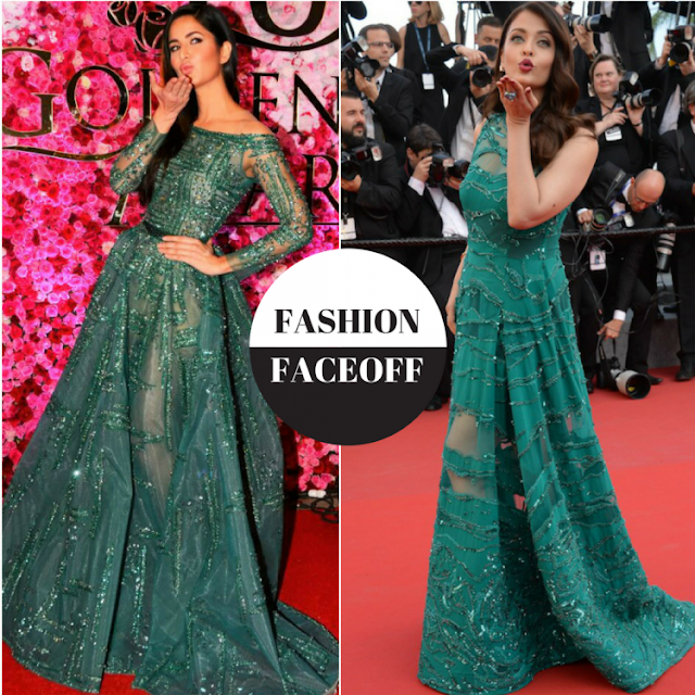 aishwarya and Katrina look alike dress, copy cat, aishwarya copied katrina
