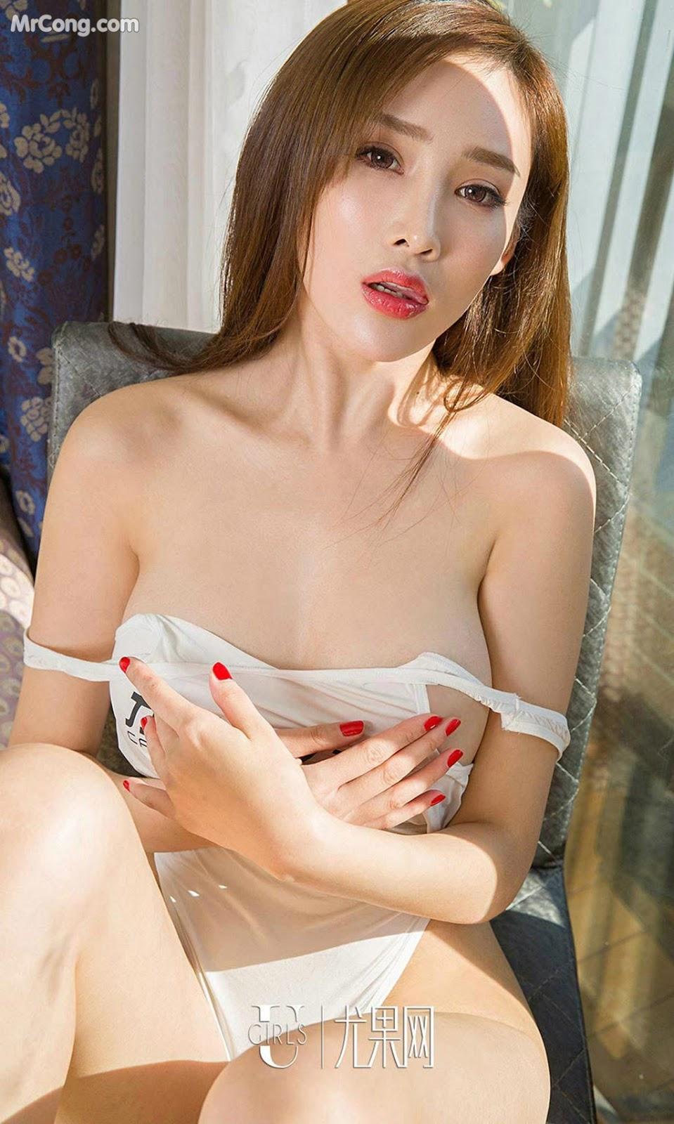 Image UGIRLS-Ai-You-Wu-App-No.875-Zhou-Yan-Xi-MrCong.com-006 in post UGIRLS – Ai You Wu App No.875: Người mẫu Zhou Yan Xi (周妍希) (40 ảnh)