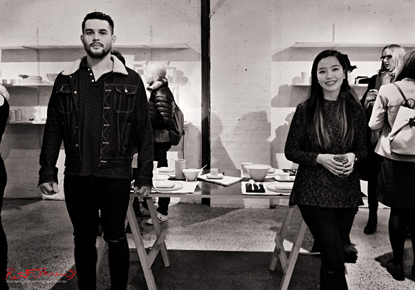 THE ASSEMBLY - Johan and Nia artist portrait, opening night Brand X Creative Retail Residency, photo by Kent Johnson.