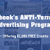Facebook Offering You $1.000 to Run Advertisement Against Terrorism