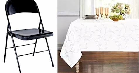 Fancy Daily Cheapskate Tables chairs and tablecloth deals round ups for Sukkot