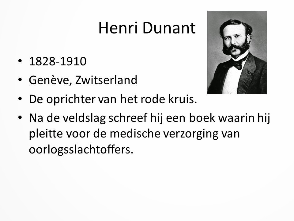 Het Menselijk Lichaam En Eerste Hulp Henri Dunant Oprichter