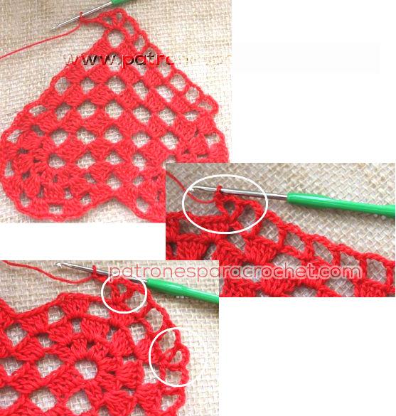 Corazón crochet para decoración / paso a paso   Patrones para Crochet