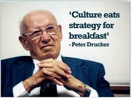 Drucker: Culture eats strategy for breakfast