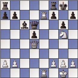 Partida de ajedrez Darga vs. O'Kelly en 1957, posición después de 22.Te7