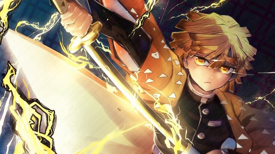Zenitsu Kimetsu No Yaiba Lightning 4k Wallpaper 5 728