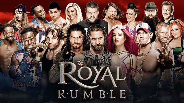 WWE Royal Rumble 2017 Promo Advertisement John Cena Seth Rollins Dean Ambrose AJ Styles Kevin Owens Chris Jericho Bray Wyatt