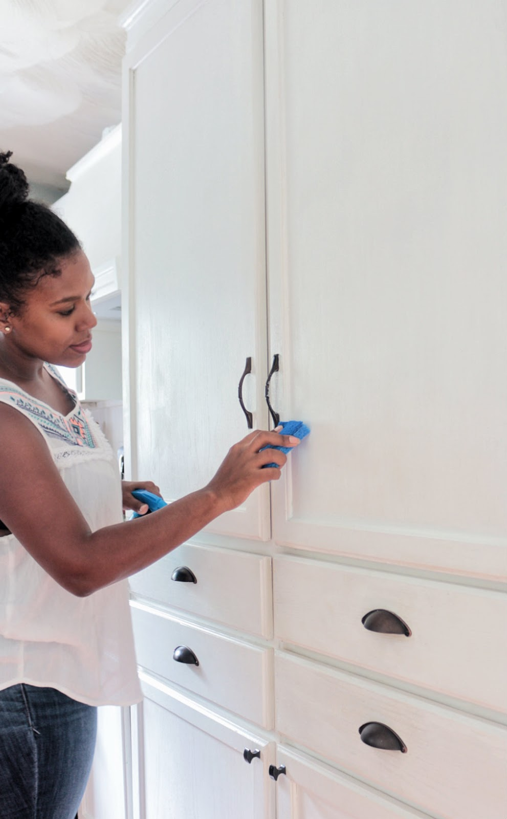 """How to Keep those Painted Cabinets """"Brite"""" and White with ..."""