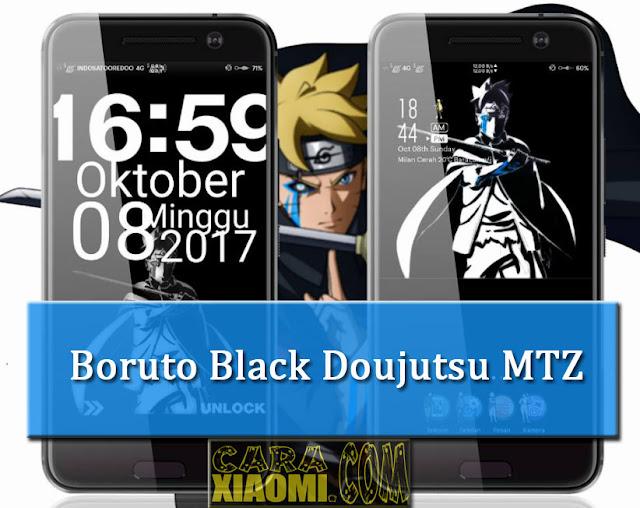 MIUI Theme Doujutsu Boruto Black Edition Mtz For Xiaomi Terbaru