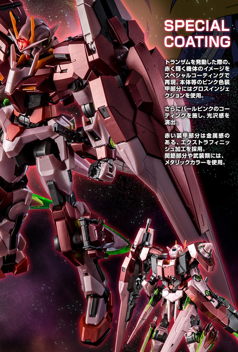 MG Gundam 00 Trans-Am Mode Seven Sword//G 1//100 model kit P-Bandai Exclusive