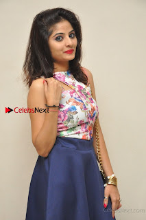 Kannada Actress Mahi Rajput Pos in Floral Printed Blouse at Premam Short Film Preview Press Meet  0017.jpg