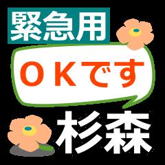 Emergency use.[sugimori]name Sticker