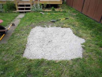 gravel dry well hole filled backyard landscaping water issue