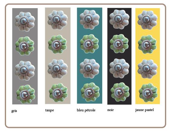 boutons de tiroirs forme citrouille