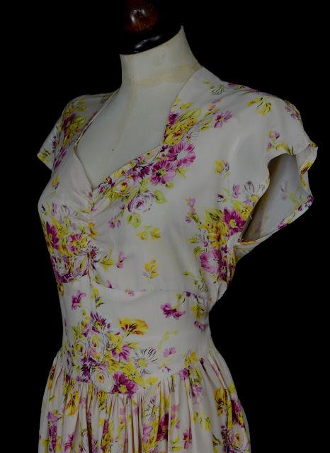 vintage 30s tea dress