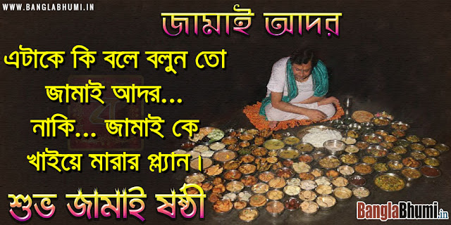 Funny Jamai Sasthi Joke in Bengali - Subho Jamai Sasthi