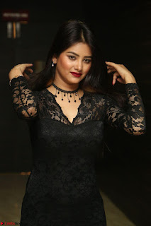 Actress Monica in spicy transparent Black Top at O Pilla Nee Valla Movie Audio Launch Feb 2017 094.JPG