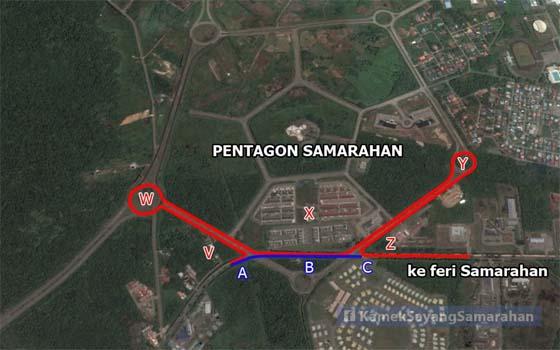'Pentagon Samarahan' Menyusahkan Pengguna Jalanraya