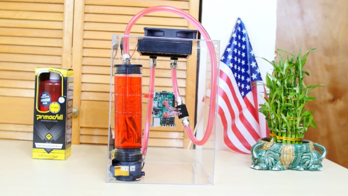 raspberry pi 3 water cooler