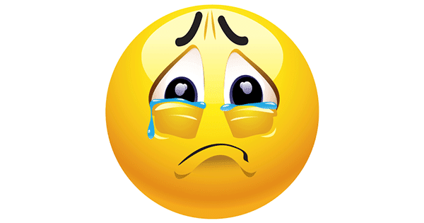 tearyeyed symbols amp emoticons