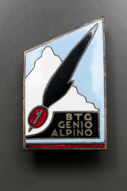 1 battaglione genio alpino btg italian badge ww2 csir armir