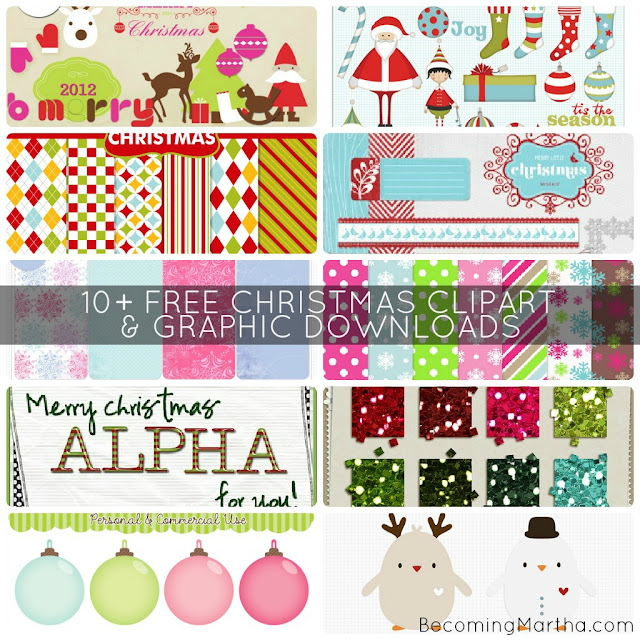 {5+5 Friday} 10+ Free Clipart Downloads for Christmas