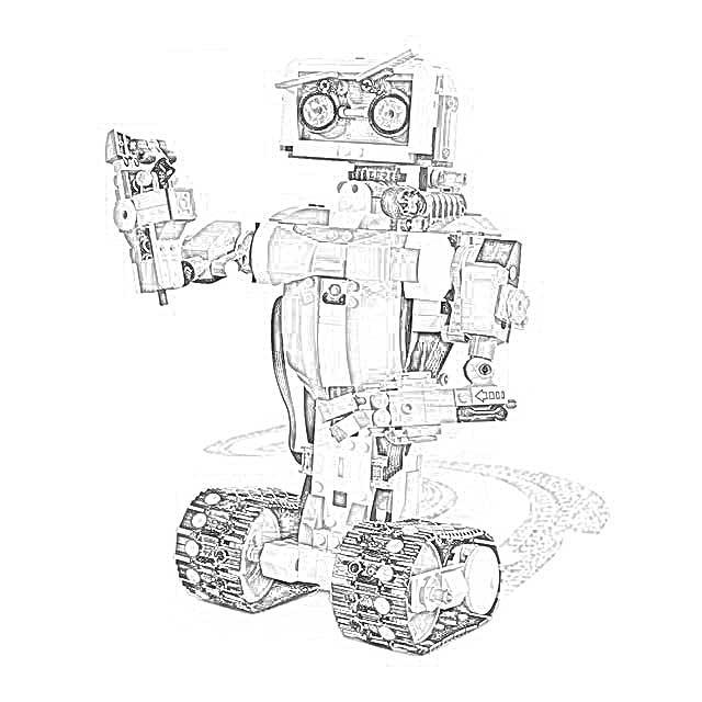 дикий лего роботы раскраска нам возможно