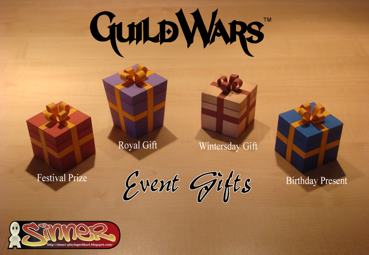 Guild Wars Event Gifts Papercraft