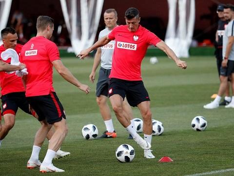 Hình ảnh luyện tập của Ba Lan trước World Cup 2018